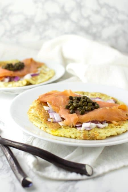 Smoked Salmon Omelet recipe from acleanplate.com #paleo #healthy #recipe