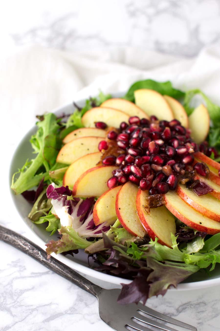 Arugula Pomegranate Salad recipe from acleanplate.com #paleo #aip #autoimmuneprotocol