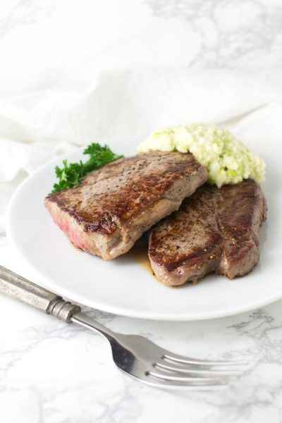 Steak with Green Apple Horseradish recipe from acleanplate.com #paleo #aip #glutenfree