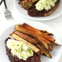 Steak with Green Horseradish