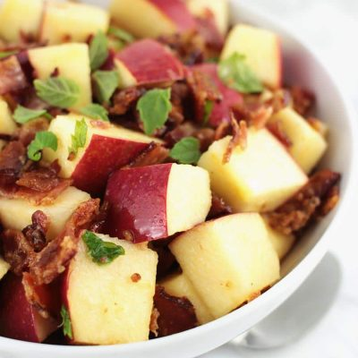 Apple Bacon Fruit Salad with Mint