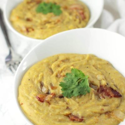 Mashed Plantains with Bacon (Mofongo)