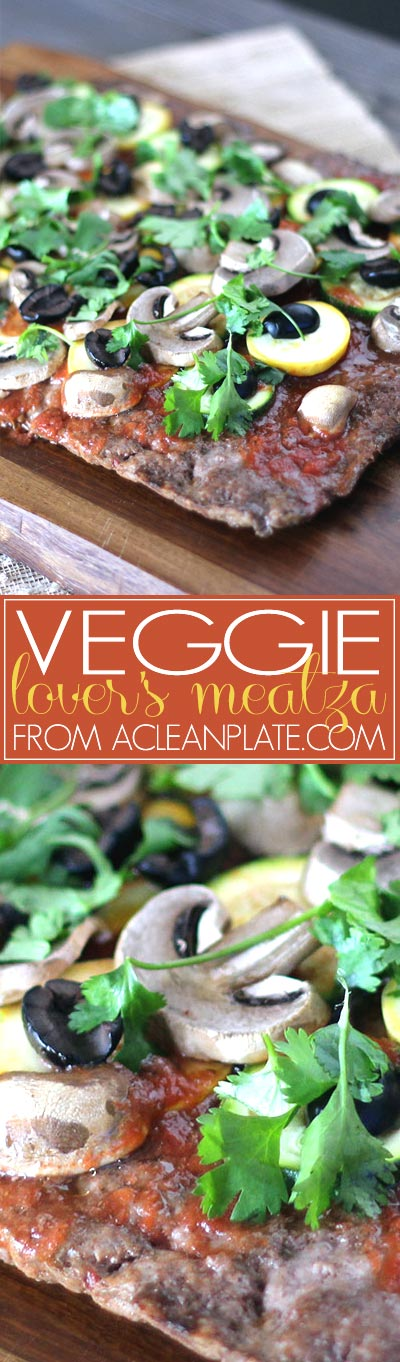 Veggie-Lover's Meatza recipe from acleanplate.com