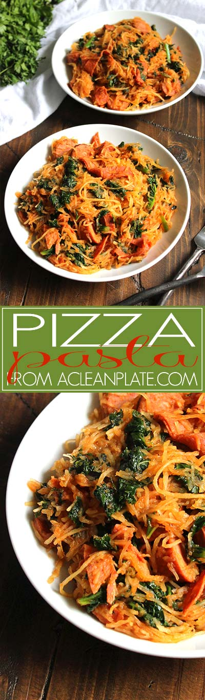 Pizza Pasta recipe from acleanplate.com