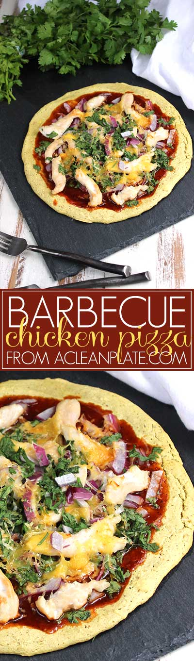BBQ Chicken Pizza recipe from acleanplate.com
