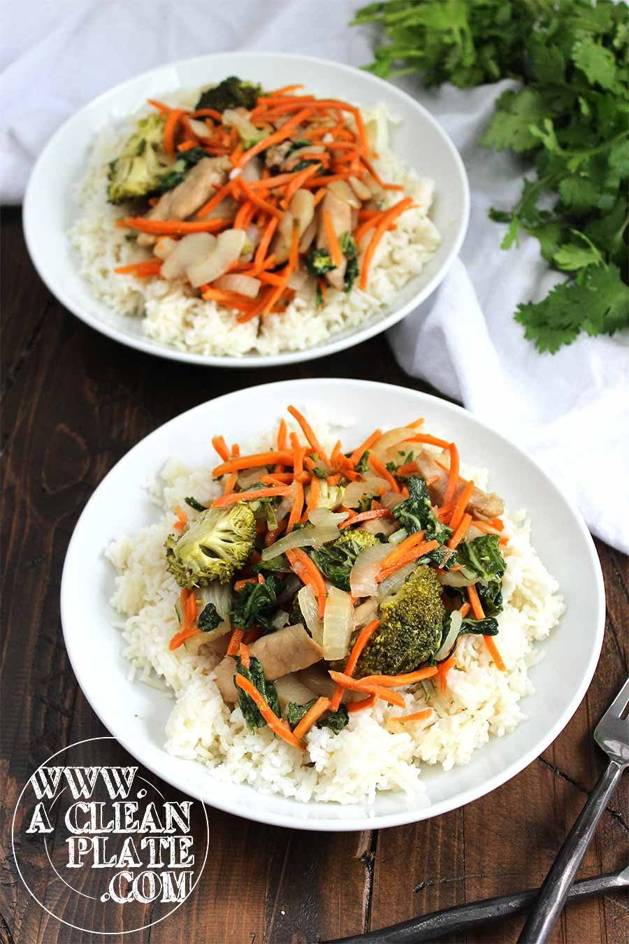 Chicken Stir Fry With Rice A Clean Plate