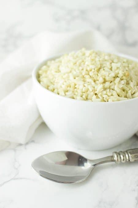 Simple Cauliflower Rice recipe from acleanplate.com #paleo #aip #glutenfree