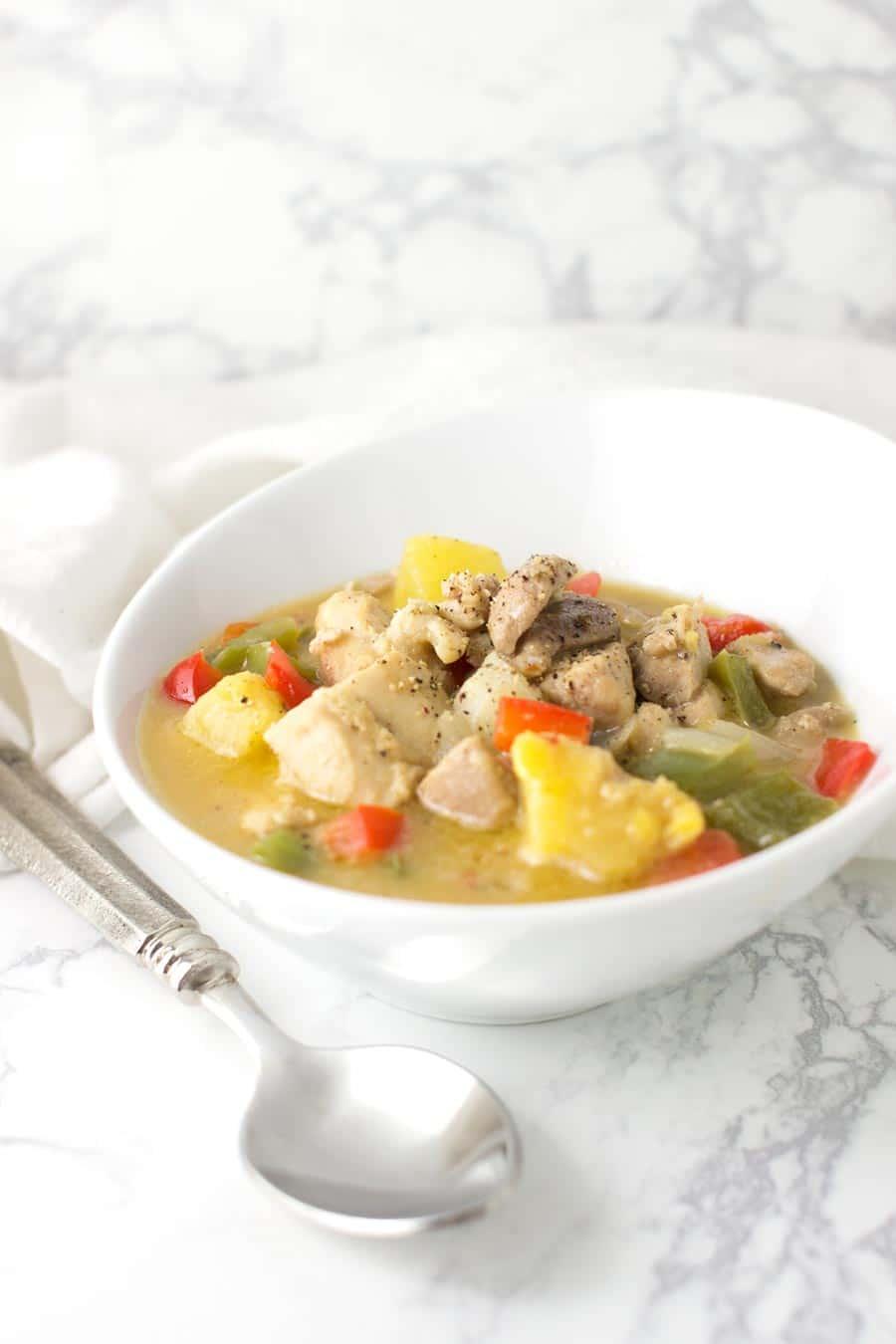 Pina Colada Chicken recipe on acleanplate.com #paleo #primal #glutenfree
