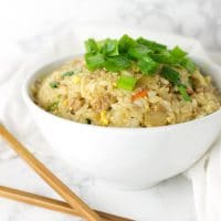 Pork Fried Rice recipe on acleanplate.com #paleo #glutenfree #dairyfree