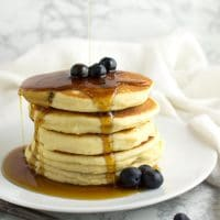 Blueberry Pancakes recipe from acleanplate.com #paleo #healthy #breakfast
