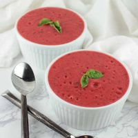 Roasted Strawberry Pots de Creme