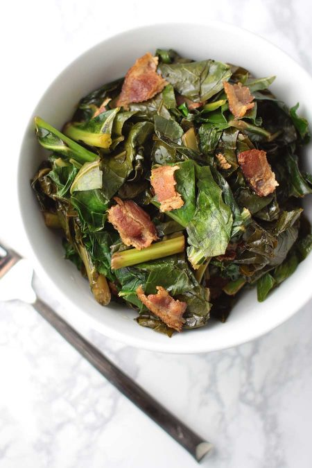 Bacon Braised Collard Greens