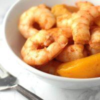 Quick and Easy Maple-Glazed Peach Shrimp