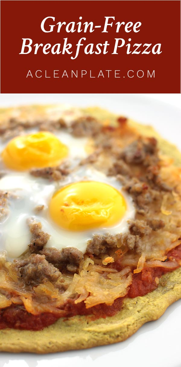 Breakfast Pizza recipe from acleanplate.com