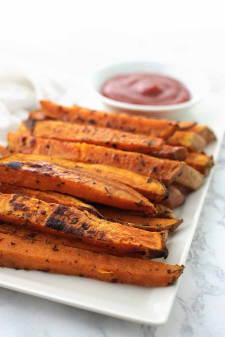 Garlic Herb Sweet Potato Fries