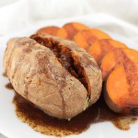 Maple-Cinnamon Baked Sweet Potatoes