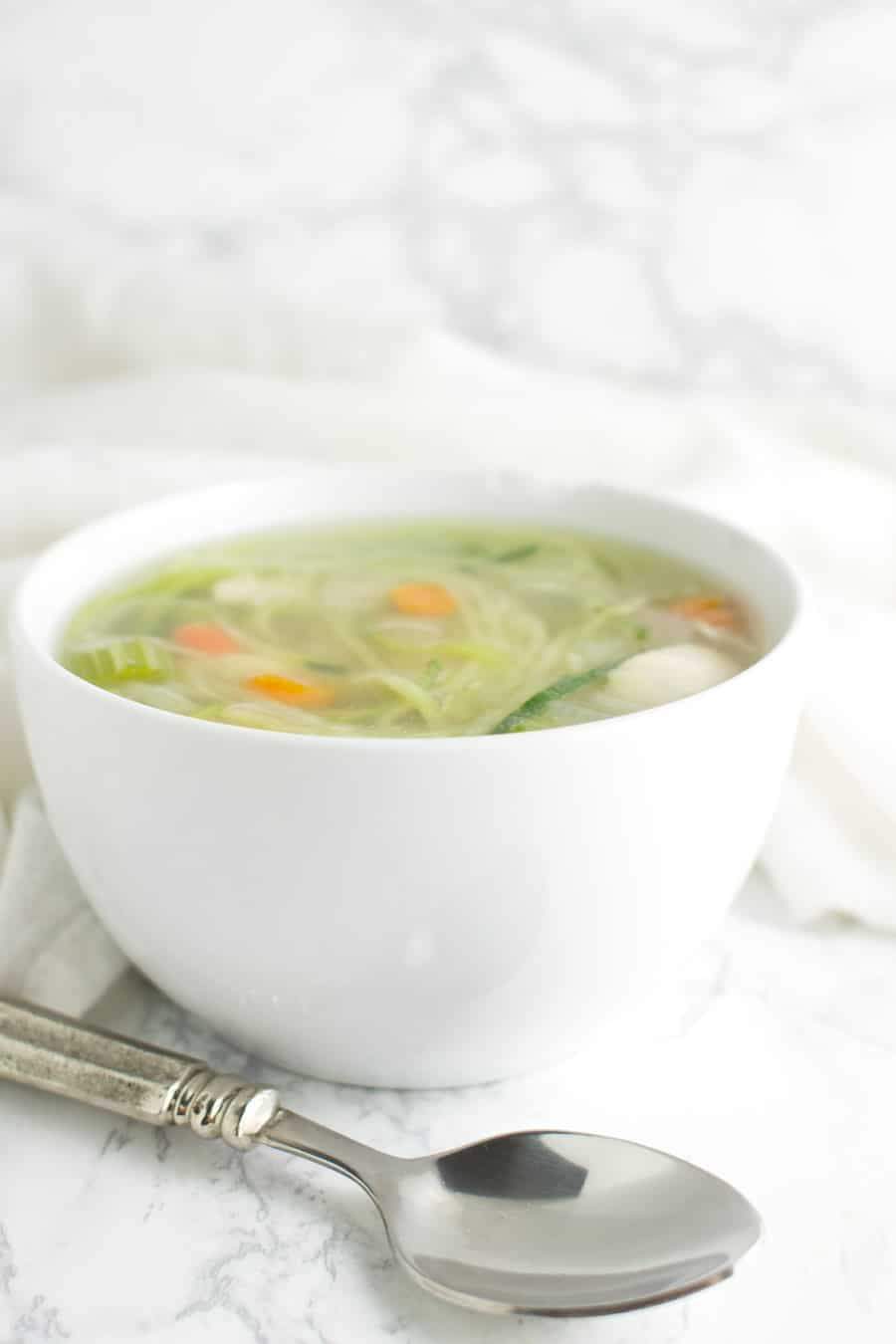 Chicken Zoodle Soup recipe from acleanplate.com #aip #paleo #autoimmuneprotocol
