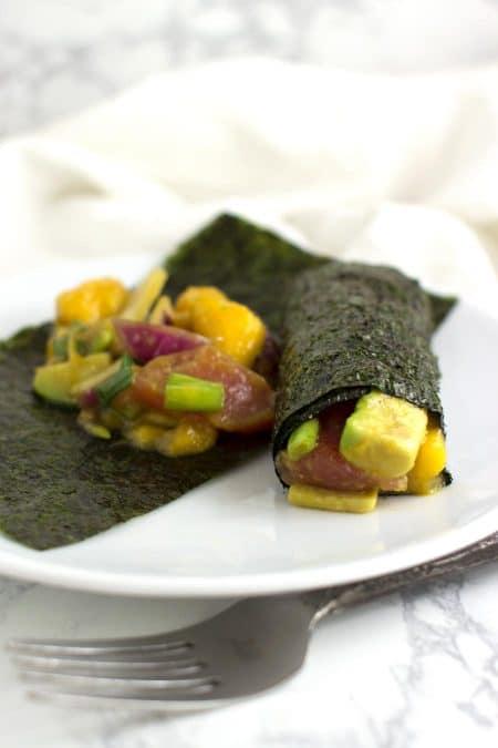 Rice-Free Nori Rolls recipe from acleanplate.com #aip #paleo #autoimmuneprotocol
