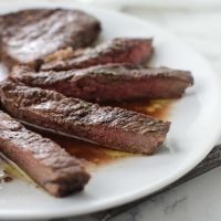 Simple Balsamic-Rosemary Steaks