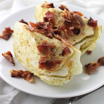 Garlic-Bacon Cabbage