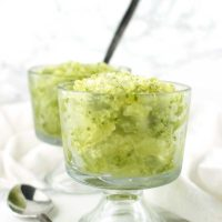 Lemon-Basil Granita recipe from acleanplate.com #aip #autoimmuneprotocol #paleo