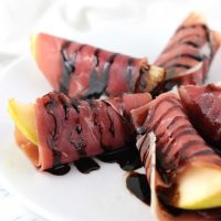 Balsamic-Glazed Prosciutto-Wrapped Pears