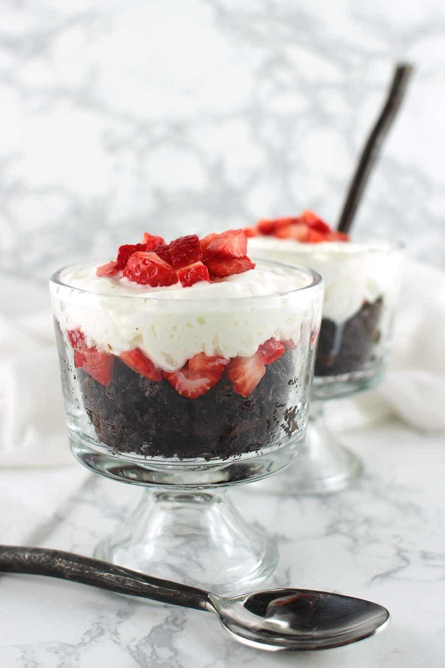 Strawberry Brownie Parfait