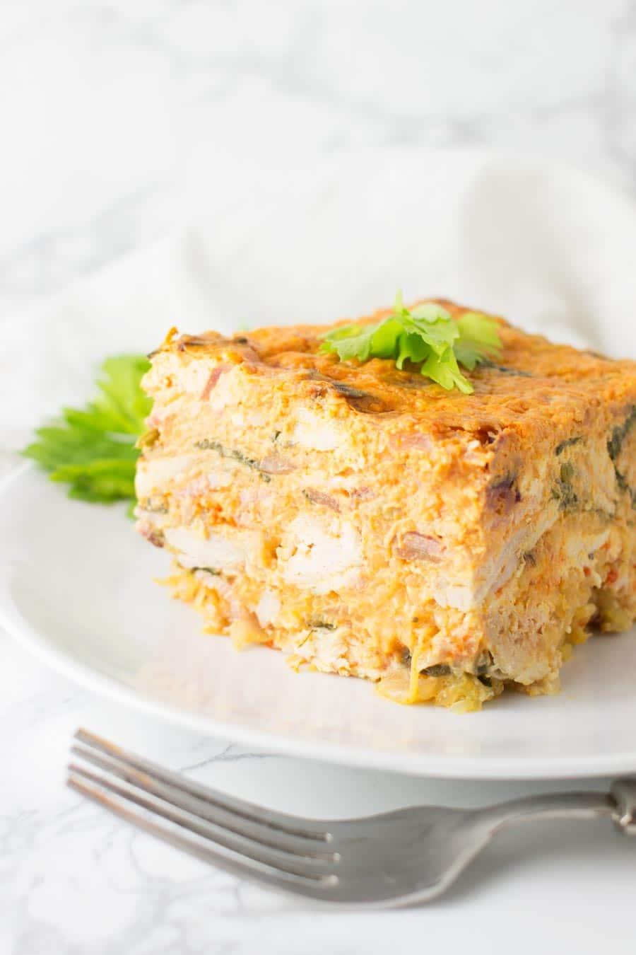 BBQ Chicken Casserole recipe from acleanplate.com #aip #paleo #autoimmuneprotocol