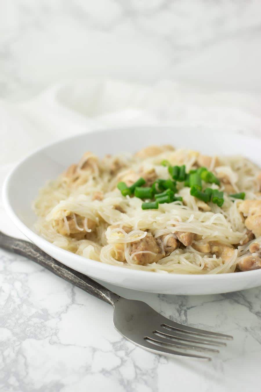 Chicken Long Rice recipe from acleanplate.com #paleo #glutenfree #dairyfree