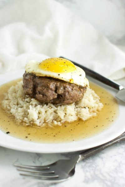 Loco Moco with Cauliflower Rice