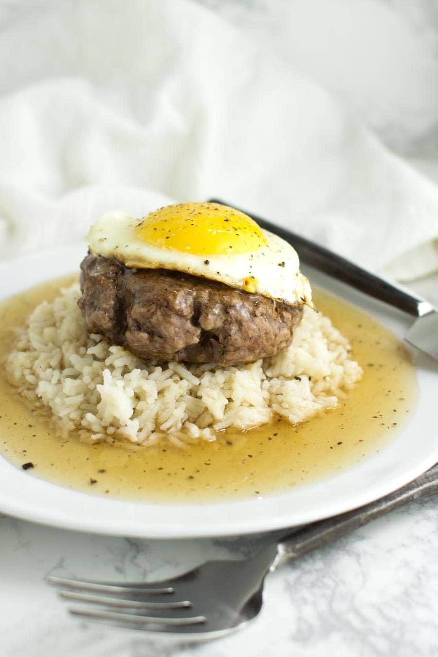 Loco Moco with Cauliflower Rice