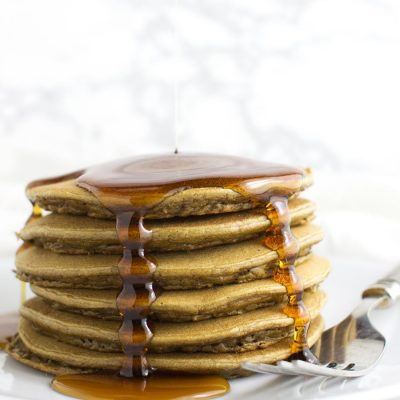 Banana Spice Plantain Pancakes recipe from acleanplate.com #paleo #glutenfree #grainfree