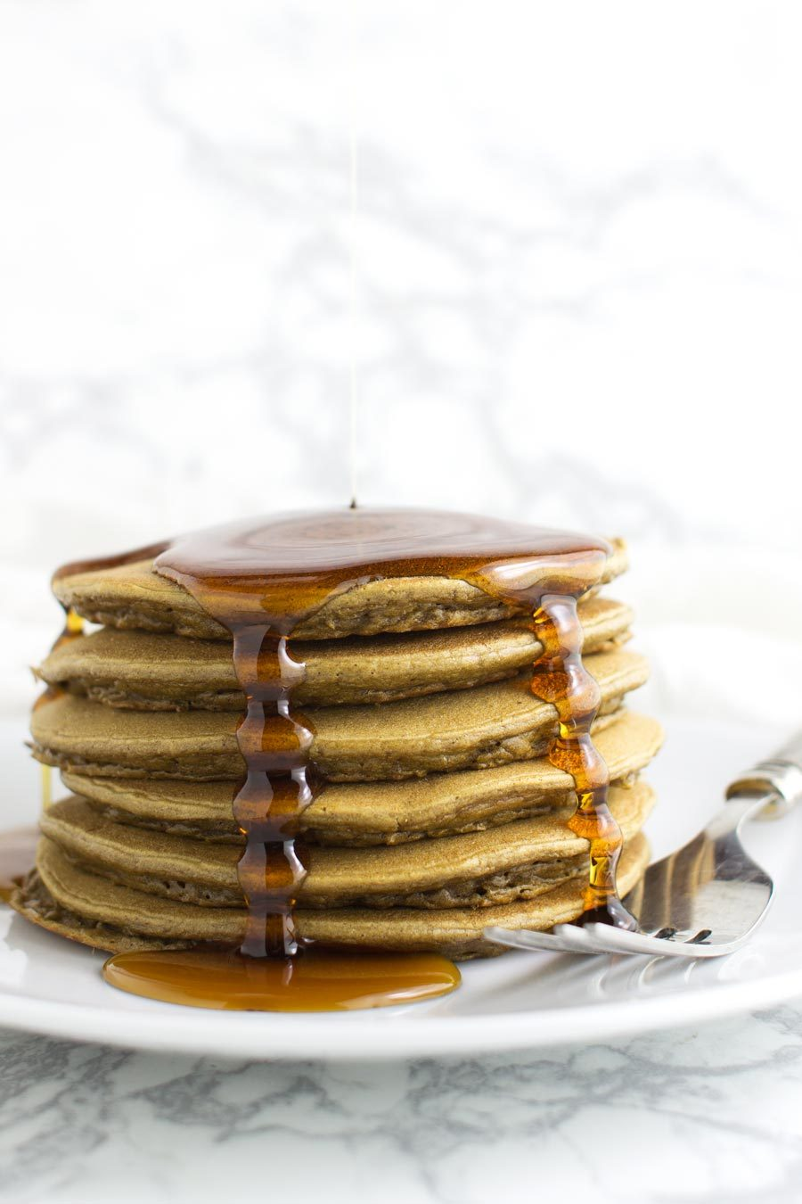 Banana Spice Plantain Pancakes recipe from acleanplate.com #paleo #glutenfree #grainfree