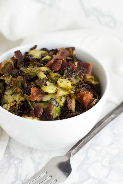 Bacon Ranch Brussels Sprouts recipe from acleanplate.com #paleo #aip #autoimmuneprotocol