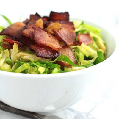 Citrus-Bacon Brussels Sprouts Salad