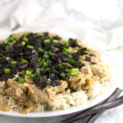 Oyakodon recipe from acleanplate.com #paleo #glutenfree #grainfree