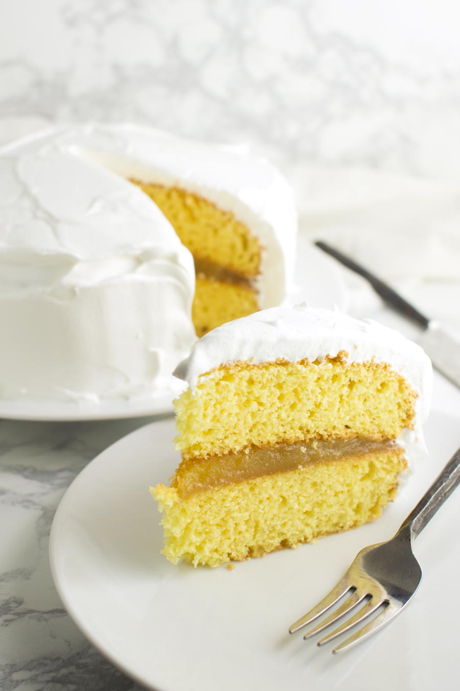 Lemon Curd Cake recipe from acleanplate.com #paleo #aip #glutenfree